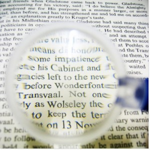 Put the details under a magnifying glass